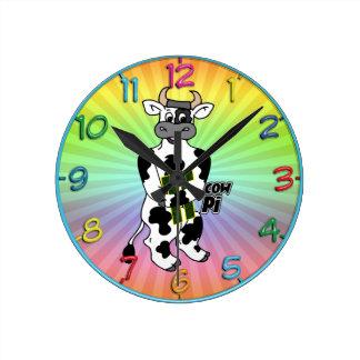 COW Pi 3.14  CELEBRATE Pi DAY Round Clock