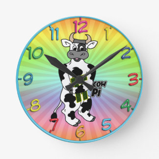 COW Pi 3.14  CELEBRATE Pi DAY Wall Clock