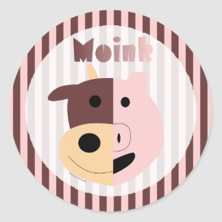 Cow + Pig = Moink stickers