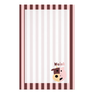 Cow + Pig = Moink striped stationary Stationery
