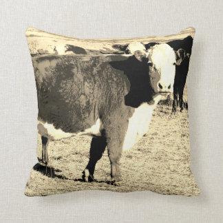 cow pillow original art