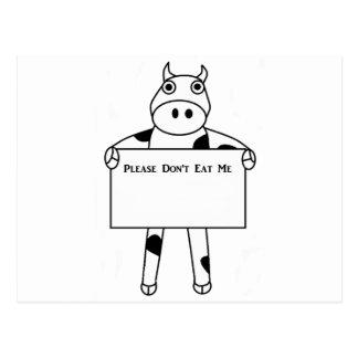 Cow:  Please Don't Eat Me Postcard