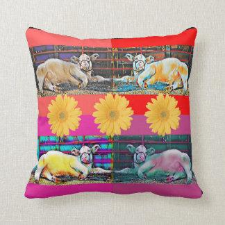 Cow Pop Art Original Photograph Pillow