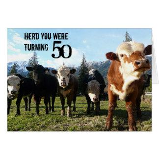 Cow Posse Card