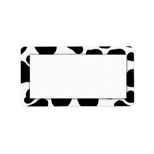 Cow Print Address Labels