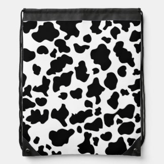 Cow Print Cinch Bags