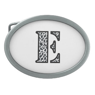 """Cow Print """"E"""" jewelry and accessories Belt Buckle"""