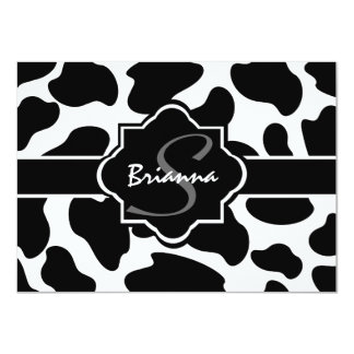 "Cow Print Flat Note Card 4.5"" X 6.25"" Invitation Card"