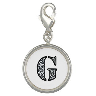 """Cow Print """"G"""" jewelry and acessories Charms"""