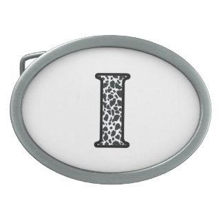 """Cow Print """"I"""" jewelry and accessories Oval Belt Buckles"""