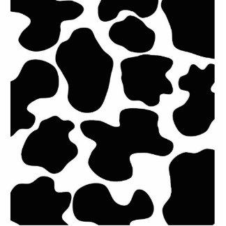 Cow Print Pattern Standing Photo Sculpture