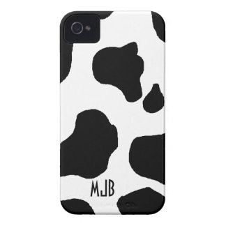 Cow Print Pattern with Initials Blackberry Bold iPhone 4 Cover