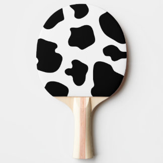 Cow print ping pong paddle for table tennis