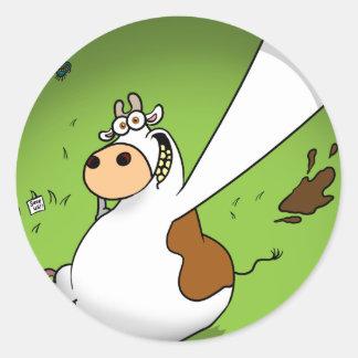 Cow Profile Pic Round Stickers