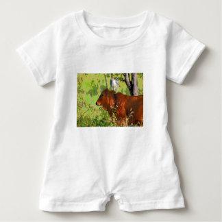 COW QUEENSLAND AUSTRALIA ART BABY ROMPER