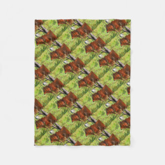 COW QUEENSLAND AUSTRALIA ART FLEECE BLANKET
