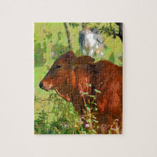 COW QUEENSLAND AUSTRALIA ART JIGSAW PUZZLE