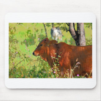 COW QUEENSLAND AUSTRALIA ART MOUSE PAD