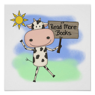 Cow Read More Books Poster