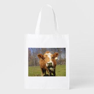 Cow Reusable Bag Reusable Grocery Bags