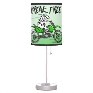 Cow riding A Motorbike Table Lamp
