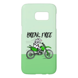 Cow Riding A Motorcyle Samsung Galaxy S7 Case