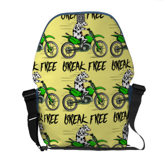 Cow riding farmers motorbike courier bags