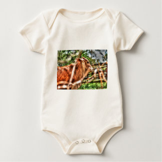 COW RURAL QUEENSLAND AUSTRALIA ART EFFECTS BABY BODYSUIT