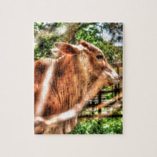COW RURAL QUEENSLAND AUSTRALIA ART EFFECTS JIGSAW PUZZLE