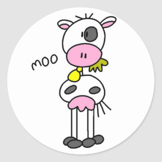 Cow Says Moo Tshirts and Gifts Classic Round Sticker