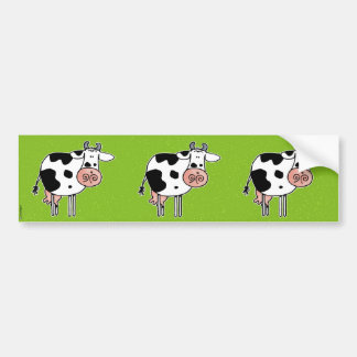 cow scrapbook sticker bumper sticker