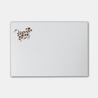 Cow Shape with Brown Spots Post-it Notes