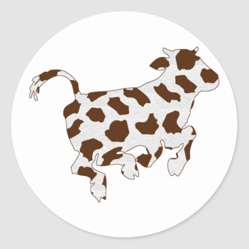 Cow Shape with Brown Spots Sticker