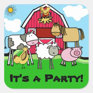 Cow Sheep Pig Chicken Farm Animals Stickers