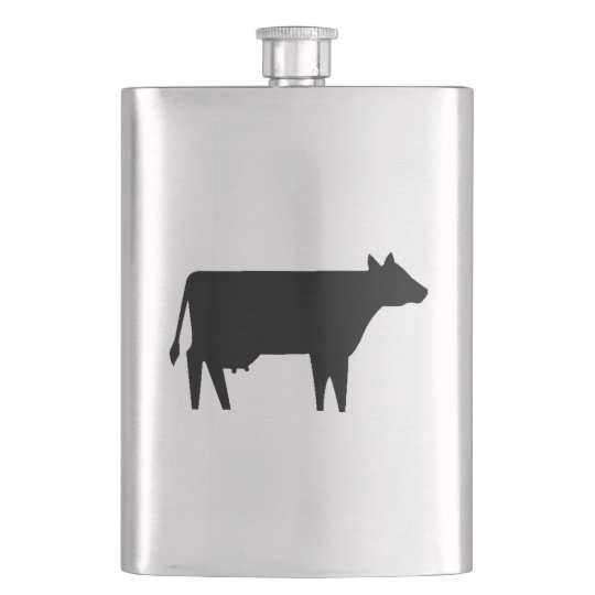 Cow Silhouette Hip Flask