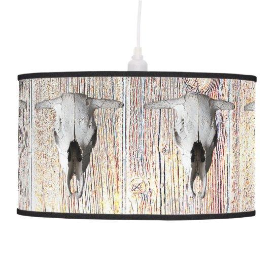 COW SKULL CEILING LAMP