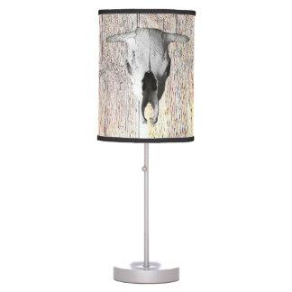 COW SKULL TABLE LAMP