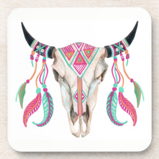 Cow Skull with Dream Catchers Coaster