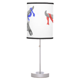 Cow Skull With Patriotic Ribbon Desk Lamp