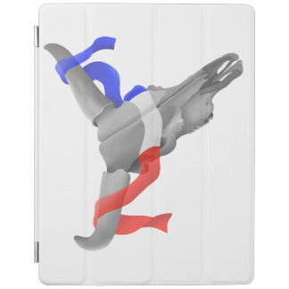 Cow Skull With Patriotic Ribbon iPad Cover