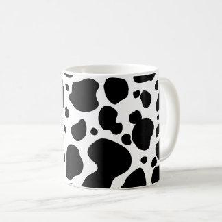 Cow Spots Pattern Black and White Animal Print Coffee Mug