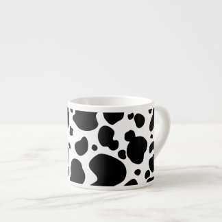 Cow Spots Pattern Black and White Animal Print Espresso Cup