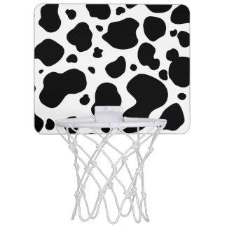 Cow Spots Pattern Black and White Animal Print Mini Basketball Hoop