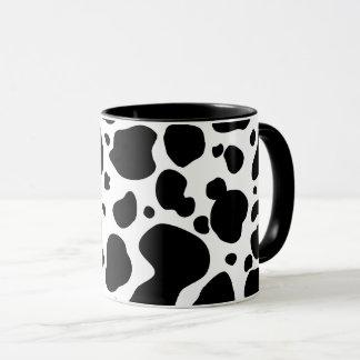 Cow Spots Pattern Black and White Animal Print Mug