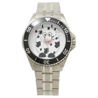 Cow Stainless Steel Bracelet Wristwatch