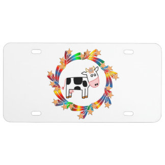 Cow Stars License Plate