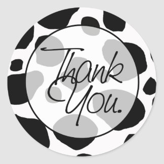 Cow | Thank You Classic Round Sticker