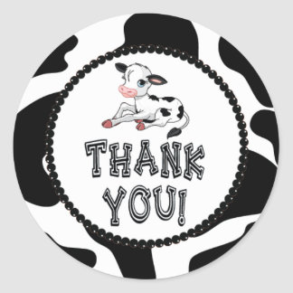 Cow Thank You Stickers