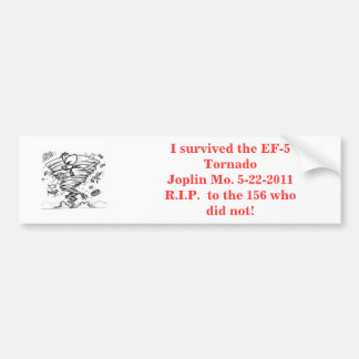 cow tornado, I survived the EF-5 TornadoJoplin ... Bumper Sticker