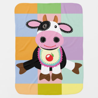 cow toy baby blanket